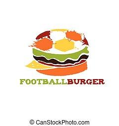 football burger illustration