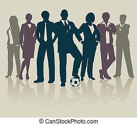 Football business team