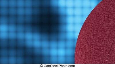 football, carrée, bleu, boucle, mur