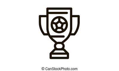 Football Champion Cup Icon Animation