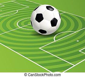 football, championnat, vecteur, illustration