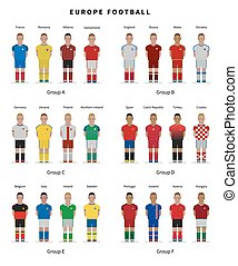 Football championship. National team players uniform....