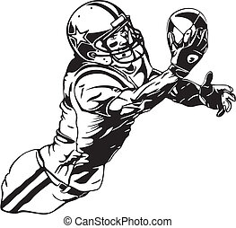 football clipart and stock illustrations 121 153 football vector rh canstockphoto com football player clipart free football player clipart free