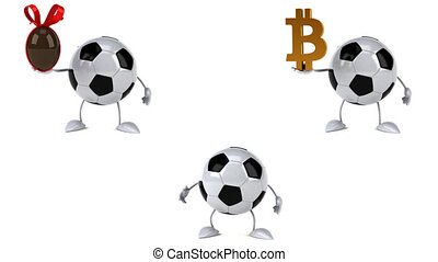 football, -, clips, animation, 4k, amusement, 3d