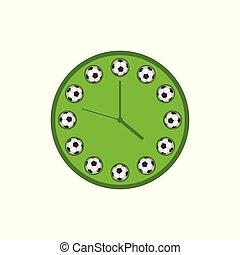 Football clock illustration