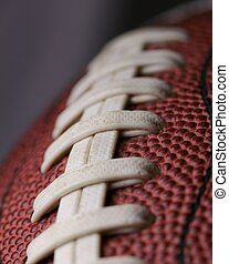 Football Close Up - football close up over dark grey with...