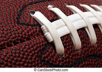 Football close-up - Macro image of american football