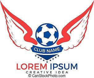 Football club emblem or soccer sport team logo design.