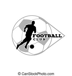 Football Club Human Playing Ball Background Vector Image