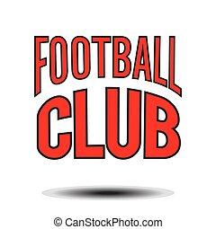 Football Club Text Logo Vector Image