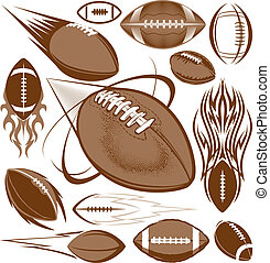 Football Collection - A clip art collection of football...
