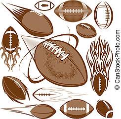Football Collection - A clip art collection of football...