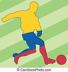football colors of Colombia