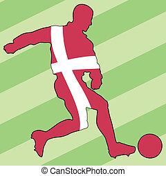 football colors of Denmark