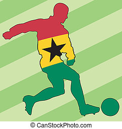 football colors of Ghana