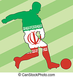 football colors of Iran