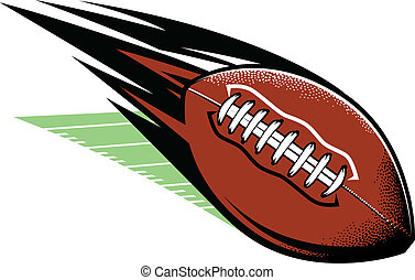 Football Comet - A football zooming over a playing field
