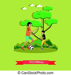 Football concept vector illustration in flat style