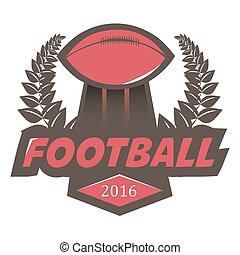 football, conception, logo, football, écusson, template.