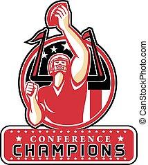 Football Conference Champions Atlanta Retro