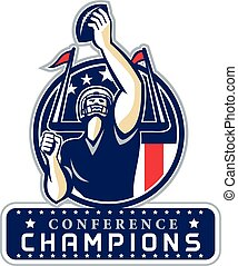 Football Conference Champions New England Retro -...
