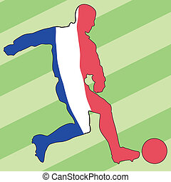 football, couleurs, de, france