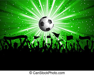 Football crowd - Football background with crowd holding...
