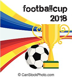 Football Cup 2018 Championship Cup Background Vector Image