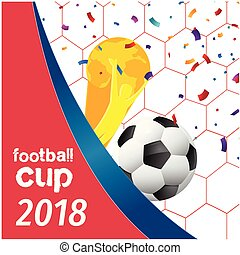 Football Cup 2018 Football Championship Cup Net Background Vector Image