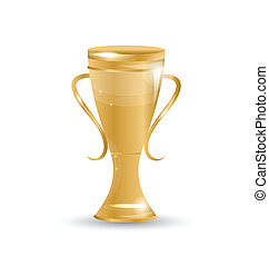 Football cup isolated on white background