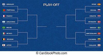 Playoff tournament bracket