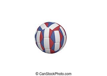 football, dans, francais, couleurs
