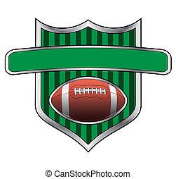 Football Design Shield Banner