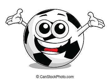 football, dessin animé, balle