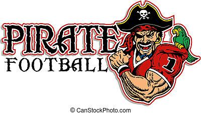 football, disegno, pirata