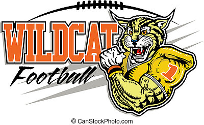 football, disegno, wildcat