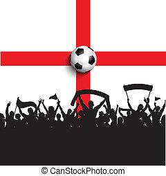 football drapeau, angleterre, défenseurs