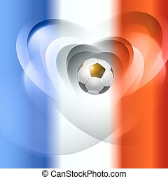football drapeau, colors., fond, france