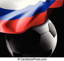 football drapeau, russie, fond
