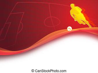 football, dynamique, fond