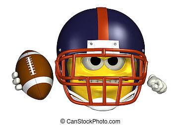 Football Emoticon - 3D render of a football emoticon.