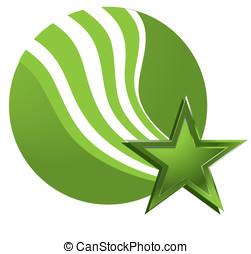 football - Vector soccer ball. Afirka wave the flag. The...