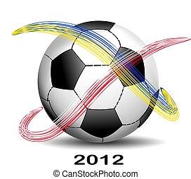 football,  Euro, balle,  2012