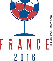 football european championship 2016 in France vector design template with wineglass and ball