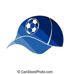 Football fans cap icon