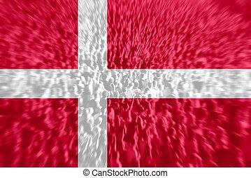 Football fans with blending Denmark flag