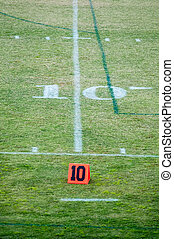 football field 10 ten yard line
