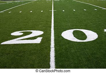 Football Field 20 Yard Line
