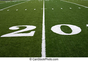 Football Field 20 Yard Line