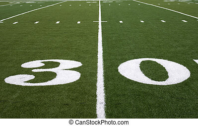 Football Field 30 Yard Line